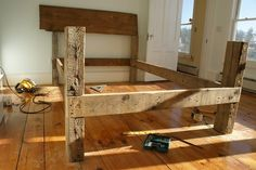 old beam bed
