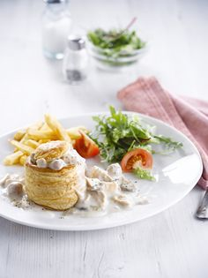 Belgian chicken fricassee (vol-au-vent)... omnomnom! You'll find this in Belgorama (Pier A) and Belle&Belge (departures level - terminal)
