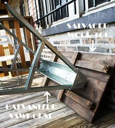 Michelle & Josh's Salvaged Sawhorse Table