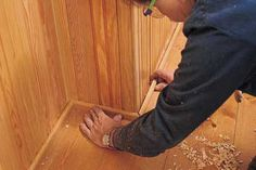 How to install Beadboard for the bathroom
