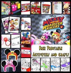 Mickey and the Roadster Racers: Start Your Engines – SKGaleana Shared Birthday Parties, Drake's Birthday, Mickey Mouse Birthday, Birthday Ideas, Third Birthday, Minnie Mouse, Mickey Mouse Parties, Mickey Party, Disney Scrapbook