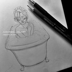 bath by juditmallolart on Instagram