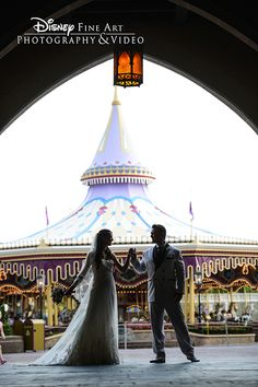 Romance and fantasy fill the air at a Walt Disney World wedding