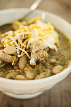 "White Bean and Chicken Chili from ""Beans & Field Peas,"" by Sandra Gutierrez."