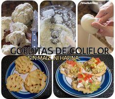 GORDITAS DE COLIFLOR Sin maiz , ni harina, baja en carbohidratos, light https://www.facebook.com/WiseNutrittion/photos/a.521511014562735.1073741828.487396484640855/694983367215498/?type=1&theater
