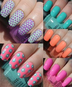 paint the rainbows ★彡: China Glaze Sunsational Neons - Cremes: Swatches and Review