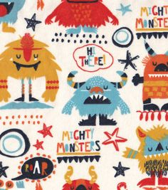 Snuggle Flannel Prints - Mighty Monsters