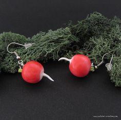 Boucles d'oreilles Radis par cs atelier ♥ Polymer clay Luna Lovegood Radish earrings