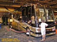 You can find super luxury at this show! Visiting the huge Florida RV Super Show with snowbirdrvtrails.com! Rv Show, Class A Rv, The Fl, Fair Grounds, Florida, Country, Luxury, Travel, Viajes