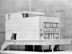 Le Corbusier, Model of the Maison Citrohan, 1922 Architecture Model Making, Architecture Board, Interior Architecture, Le Corbusier, Building Structure, Building Design, Modern Masters, Brutalist, Bauhaus