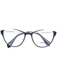 MIU MIU EYEWEAR . #miumiueyewear # Black Cat Eyes, Cat Eye Glasses, Protective Cases, Miu Miu, Eyewear, Mirrored Sunglasses, Metal, Shopping, Style