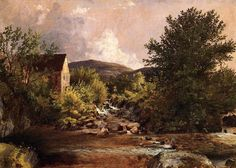 'The Old Mill', Oil On Canvas by Jasper Francis Cropsey (1823-1900, United States)