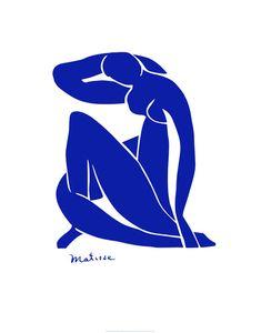 Blå nøgenmodel Poster af Henri Matisse på AllPosters.dk