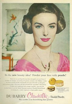 #1950s #vintage #fifties #makeup #beauty #cosmetics #fashion #style #pink #cosmetics #makeup