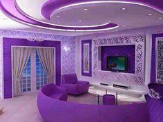 Love the color #livingroom interior design, sofas, flooring, ceiling, lighting, rugs, coffee tables, art in the living room #decorating loft wallpaper
