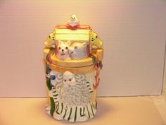 Adorable Noahs Ark Cookie Jar! Great gift for someone who is decorating a nursery or a nursery jar collector.