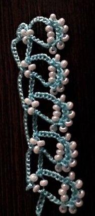 Turkish Bead Crochet OYA PATTERN: Sümbül (Hyacinth). Source: CouchCrochetCrumbs.