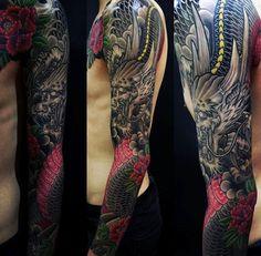 Men's Dragon Sleeve Tattoo Designs – Best Dragon Tattoos: Find Cool Dragon Tatto… – My CMS Dragon Tattoos For Men, Dragon Sleeve Tattoos, Dragon Tattoo Designs, Tattoo Sleeve Designs, Tattoo Designs For Women, Tribal Tattoos, Red Tattoos, Love Tattoos, Tattoos For Guys