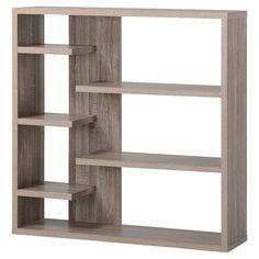 Homestar Wide 6-Shelf Hollow Core Bookcase -