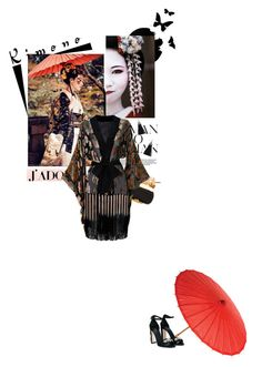 """""""Geisha"""" by stellina-from-the-italian-glam ❤ liked on Polyvore featuring Alexander McQueen, Agent Provocateur, Dolce&Gabbana and kimonos"""