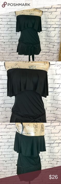 🌷White House Black Market Off Shoulder Top🌷 Never worn White House Black Market off shoulder top.  This top is so pretty on but sadly I never got to wear it.  Comes with removable tie at waist.  🌸Size: X-Small 🌸Material: 96% Acetate, 4% Spandex White House Black Market Tops