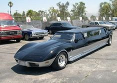 """Corvette Stretch Limo That Starred In """"Mystery Men"""" For Sale - Carscoop Chevrolet Corvette, Weird Cars, Cool Cars, Strange Cars, Crazy Cars, Stretch Limo, Classic Corvette, Isco, Amazing Cars"""