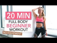 20 min full body workout suitable for beginners. No Equipment necessary and not much space needed. Hiit Workout Videos, Fitness Workouts, Pilates Workout, Ab Workout Machines, Fitness Herausforderungen, Insanity Workout, Sport Fitness, At Home Workouts, Quick Workouts