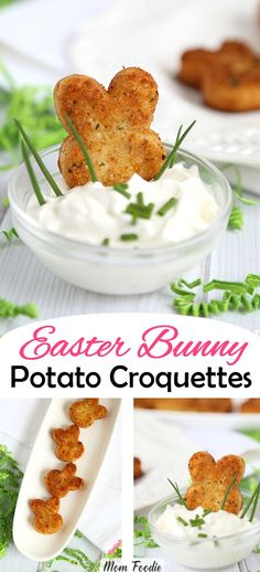 Easter appetizer bunny potato croquettes Source by realadvicegal Easter Recipes Potatoes, Potato Recipes, Turkey Recipes, Soup Recipes, Croquettes Recipe, Potato Croquettes, Easter Dinner, Easter Brunch, Easter Party