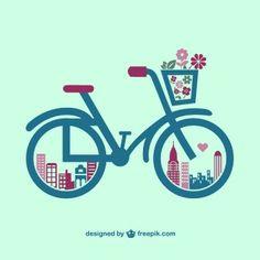 Retro bicycle graphics