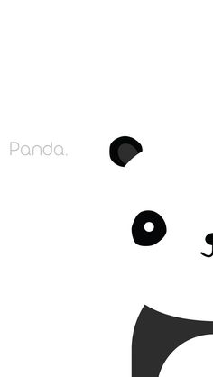 Simple Panda iPhone Background