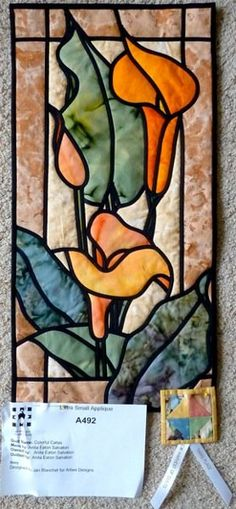 Stained Glass Calla Lilies » Arbee Designs I won a prize in our area quilt show…
