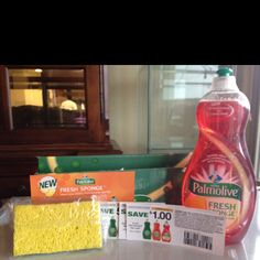 Palmolive dish washing kit with the new fresh palmolive sponge,received complimentary for testing purposes from Colgate-Palmolive via influenster...amazing product!!!