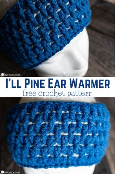 "Check out this ""I'll Pine"" Ear Warmer free crochet pattern. Quick Crochet Patterns, Crochet Patterns For Beginners, Free Crochet, Crochet 101, Crocheting Patterns, Knitting Tutorials, Crochet Granny, Easy Crochet, Knitting Patterns"