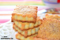 Galletas de almendras y queso crema