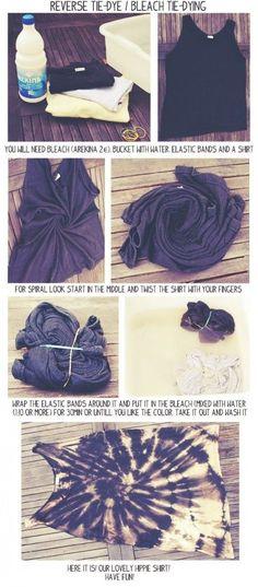 DIY Bleach Tie Dye by erika