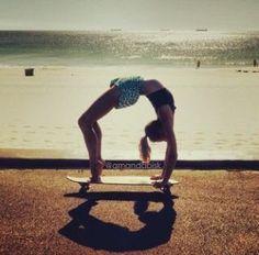 Image result for skateboard yoga