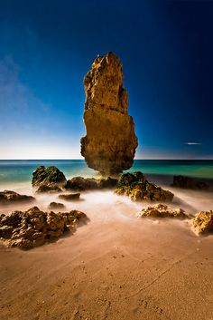 """Portugal. """"Taken from a hidden part of Praia da Marinha beach which can only be reached (staying relatively dry) at low tide."""""""