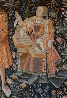 Pittsburgh, Frick Art Museum, tapestry, detail