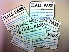 Cloud 9 Living Employee Gifts....Hall pass for an extra 10-20min break