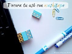 memoria usb decorada con washitape