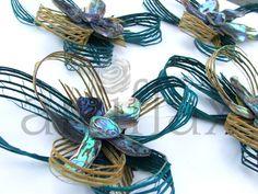 Artiflax - weddings - Hapene and Paua shell corsages