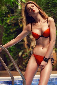 Manage The Pool Party! Bordella Orange Bikini  Summer Beach Fashion Trends 2014 GQ Magazine UK