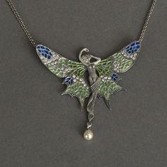 Collier Fairytale in Emaille. Verkrijgbaar bij www.artdecowebwinkel.com - Necklace Fairytale in Emaille. Available at www.artdecowebstore.com.