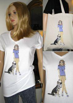 ALICE BRANDS unikátní psí plemeno návrhy na špičkové kvality ženských topy, trička, a nyní na EKO tašky taky. Alice s alsaské / německého ovčáka na obrázku. etsy.com/uk/shop/AliceBrands ... Podívejte se na naši kompletní sortiment na www.alicebrands.co.uk