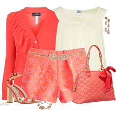 """It's a Coral Summer"" by kginger on Polyvore"