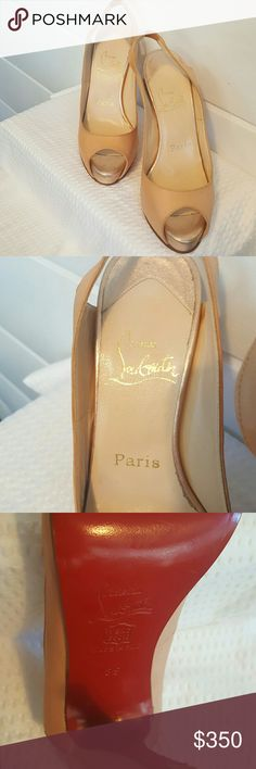 Authentic Christian Louboutin Red Bottoms EUC. See pics. Classic neutral color. Christian Louboutin Shoes Heels