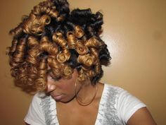 Romance from Cleveland // Natural Hair Style Icon – Paige Williams - Perm Hair Styles Roller Set Hairstyles, Permed Hairstyles, Cool Hairstyles, Hairstyle Ideas, Hairstyles Pictures, Hair Ideas, Woman Hairstyles, Black Hairstyles, Hairdos