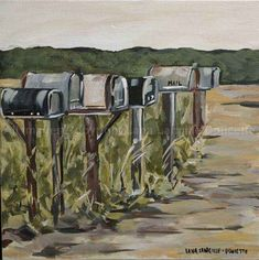 """DOWN COUNTRY ROADS"" reproduction of original painting canvas prints from $30"