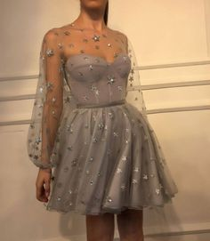 2018 New Arrival Elegant Evening Dresses A-Line Short Sleeves Lace Appliques Short Prom Dress - Homecoming Dresses Long Sleeve Homecoming Dresses, Short Dresses, Short Evening Dresses, Short Elegant Dresses, Dresses Dresses, Stylish Dresses, Boho Prom Dresses, Dress Long, Dress Outfits