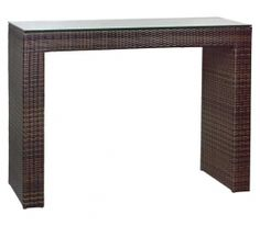 Τραπέζι Mπάρ Wicker Rattan150εκ X 50εκ